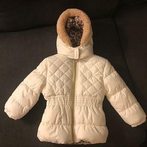 NWOT white puffer jacket